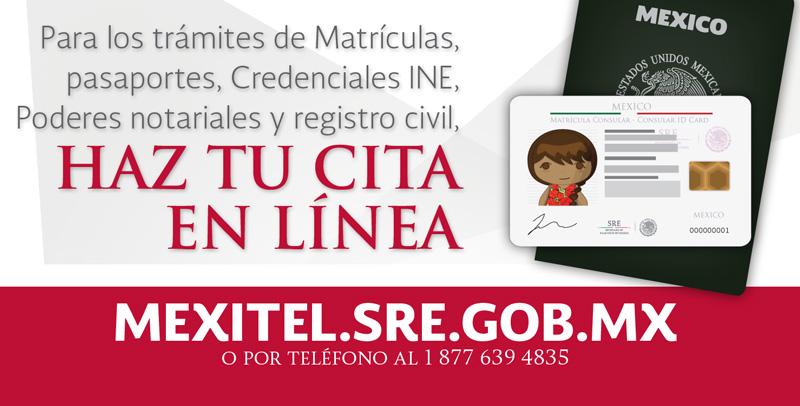 SERVICIO DE CITAS CONSULARES MEXITEL  - El Valle Noticias